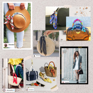 HOW to wear scarves -Style your hats and bags with scarves