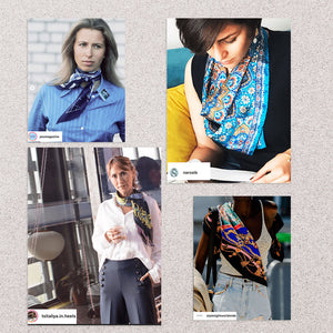 How to wear scarves , how to style scarves