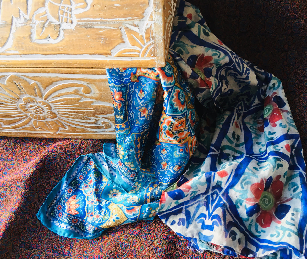soulful printed silk scarves made in italy