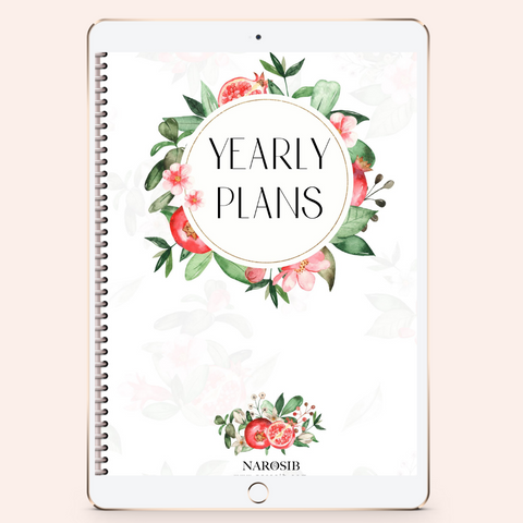 fully hyperlinked 2021 digital planners pomegranate