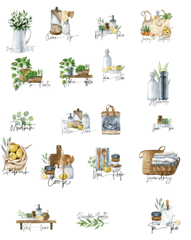 digital stickers zero waste theme