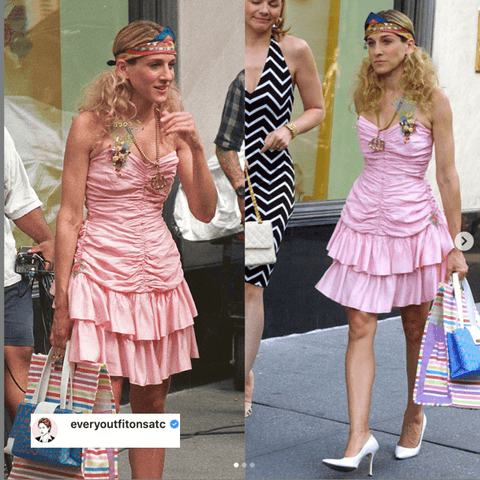 The infamous Carrie Bradshaw knew her way very well around the accessories  @everyoutfitonsatc