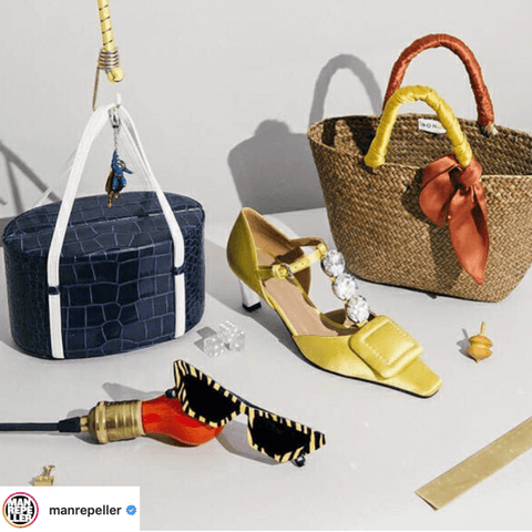 Style your hats and bags with scarves – accessorize other accessories with scarves
