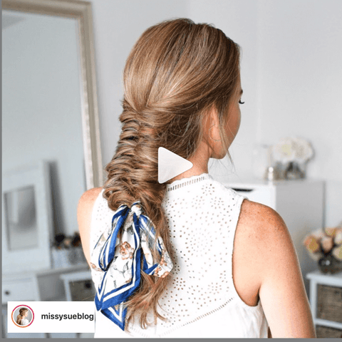 how to tie a scarf into your braids