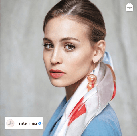 @sister_mag  has created a How-To tutorial for creating 5 modern summer hairstyles featuring scarves