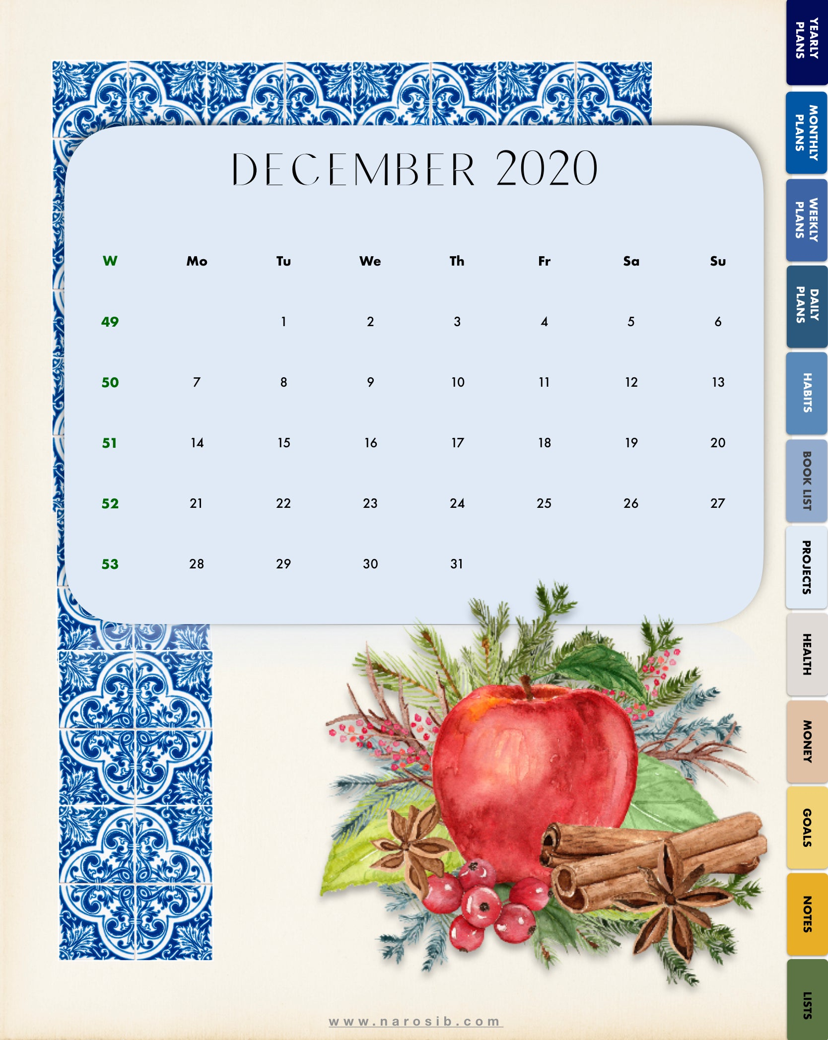 Escape to Sicily 2021 Digital Planner-Fully Hyperlinked-for Goodnotes,Notability + FREE STICKERS