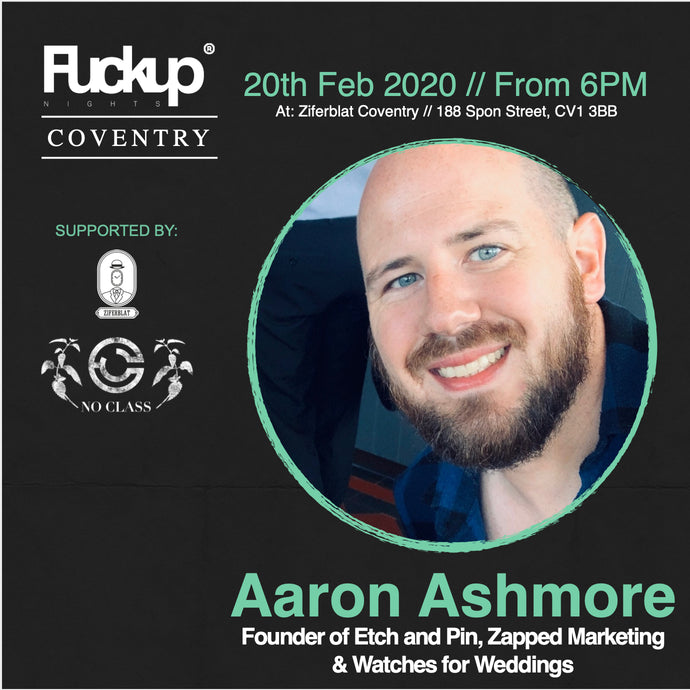Hear us speak at the first F*ckup Coventry on 20th February!