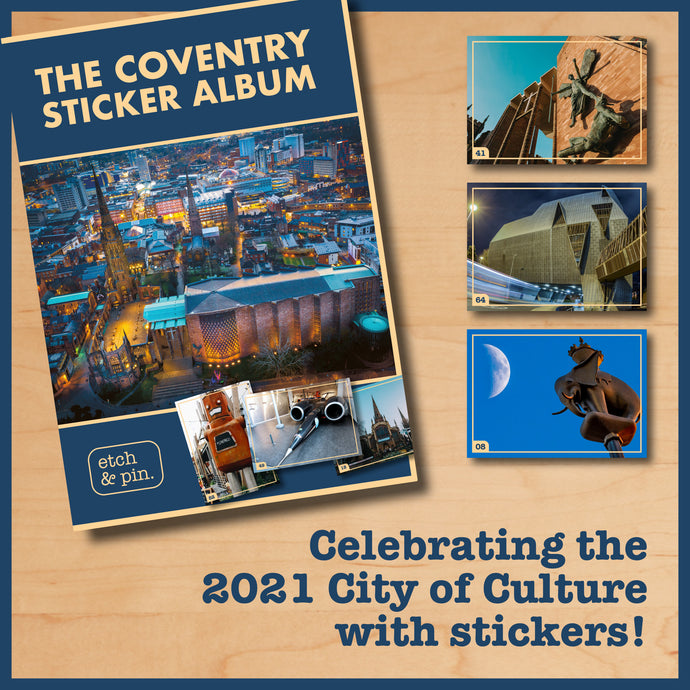 Celebrating the city with stickers in The Coventry Sticker Album