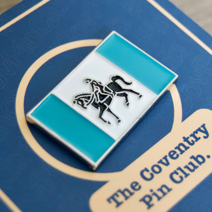 Our Coventry Flag badge on sale now!