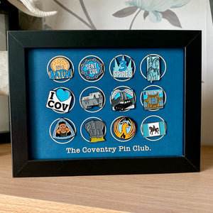 Full set of Year One pin badges and display frame