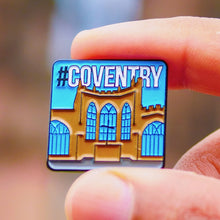 Load image into Gallery viewer, Etch and Pin Coventry Cathedral pin badge