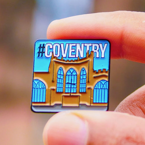 Etch and Pin Coventry Cathedral pin badge