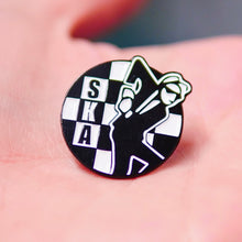 Load image into Gallery viewer, Etch and Pin Special SKA pin badge close up