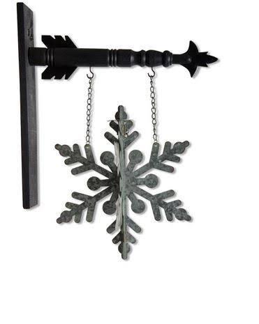 Tin Snowflake Arrow