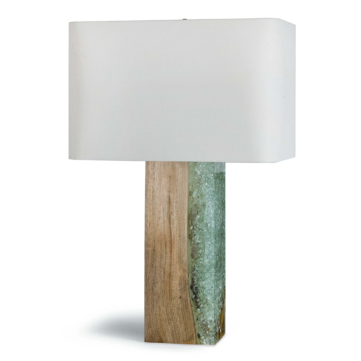 Wood & Resin Table Lamp