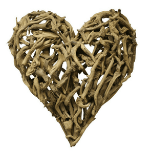 Wooden Driftwood Heart