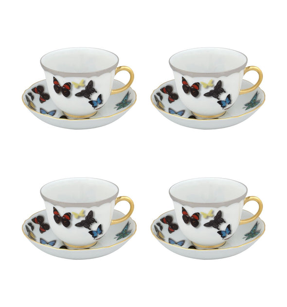 Christian Lacroix - Butterfly Parade Tea Cup And Saucer, Set Of 4
