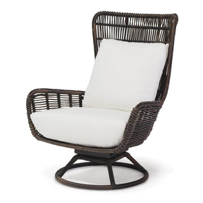 Outdoor Swivel Lounge Chair - Sorrento Espresso