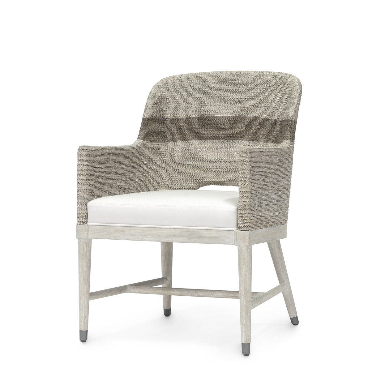 Dining - Whitewash Rope Arm Chair