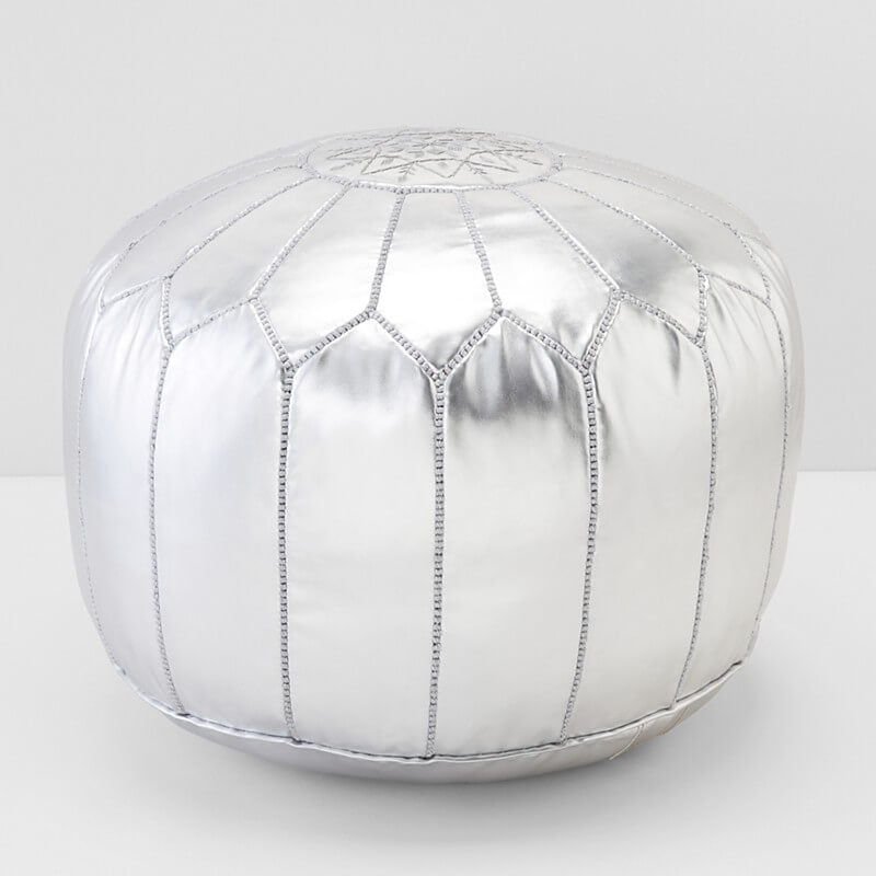 Moroccan Prestige Leather Pouf