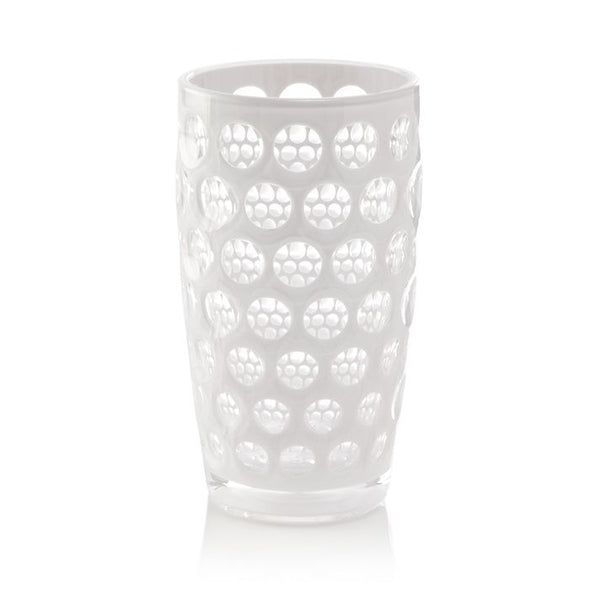 Tall Bubble Tumbler in White
