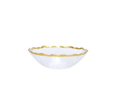 Vietri Baroque Glass White Small Bowl (Set of 4)