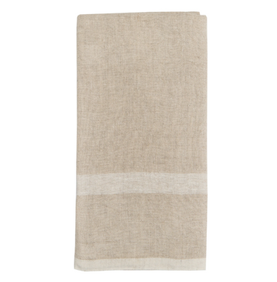 Linen Towel • White & Natural (Set of 2)