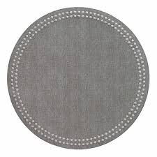 Pearls Grey Silver Placemat Easy Care