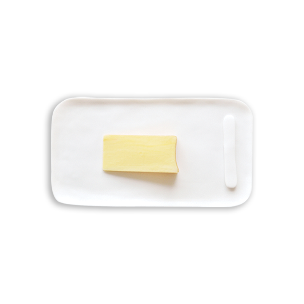Serving Board with Cheese Spreader Large White