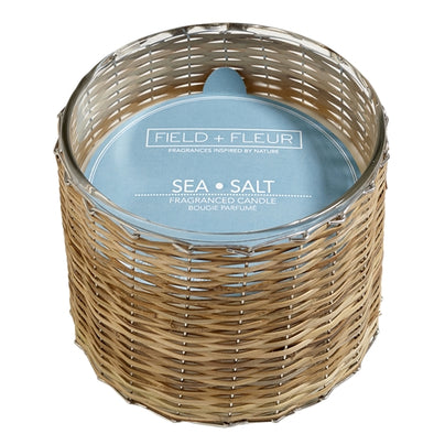 Salt & Sea Handwoven Candle (3 Wicks)