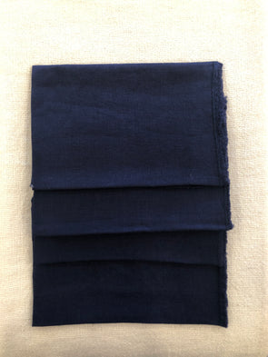 Midnight Blue Fringe Stone Washed Napkin