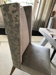 Velvet & Floral Upholstered Dining Chair (Minimum Purchase of 2)