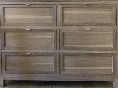Six Drawer Chest in Rift Oak