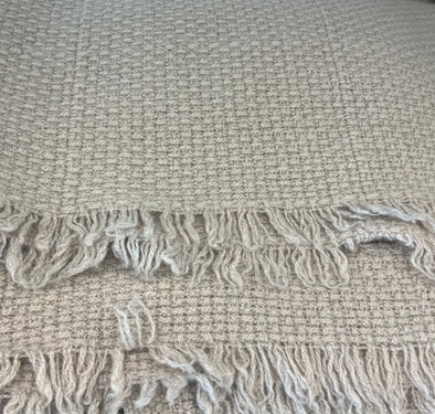 Throw • Slow Cashmere • Large Basketweave Throw Blanket