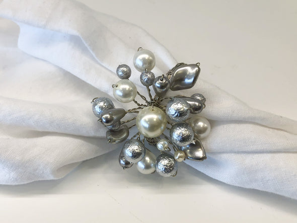 Napkin Ring • Pearl Burst with Silver