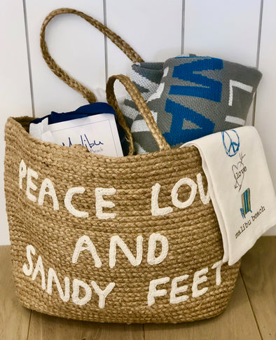 Peace, Love, Malibu Gift Basket