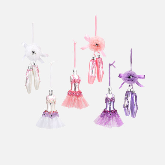 Ballerina Dress and Shoes Ornament