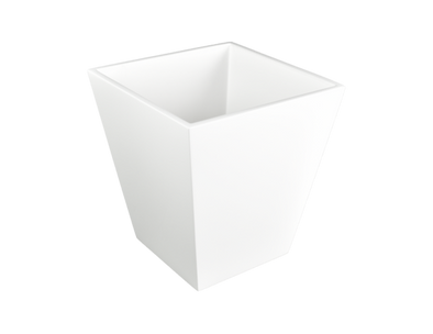 Lacquer Waste Basket White