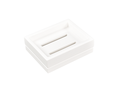 Lacquer Two Piece Soap Dish White