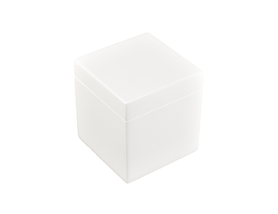 Lacquer Q-Tip Box White