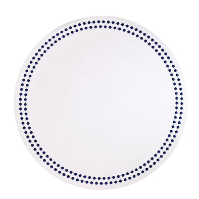Shell Antique White & Blue Placemats (Set of 4)