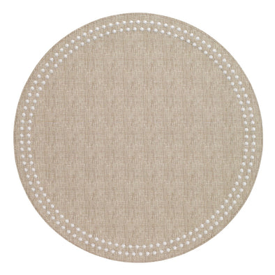 Pearls Beige/White Mat Easy Care (Set of 4)