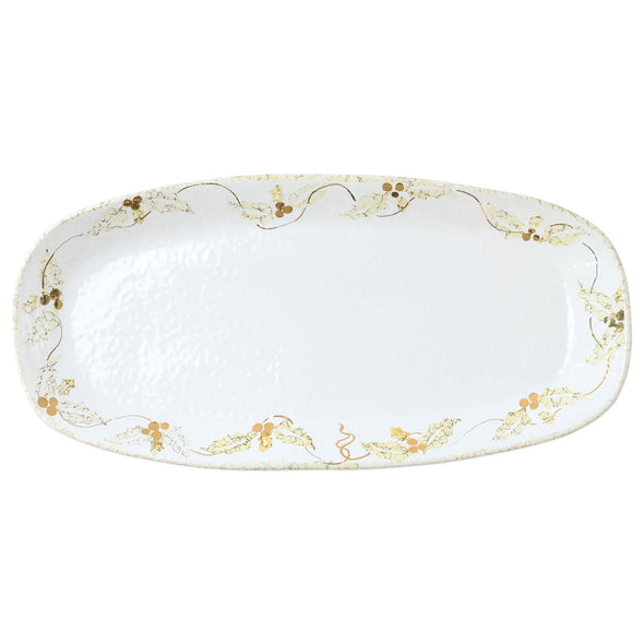 Perla Natale Holly Narrow Rectangular Platter