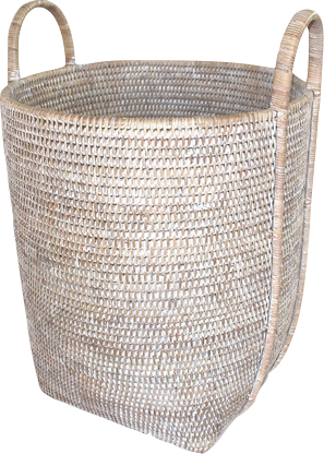 Rattan Large Basket with Handles