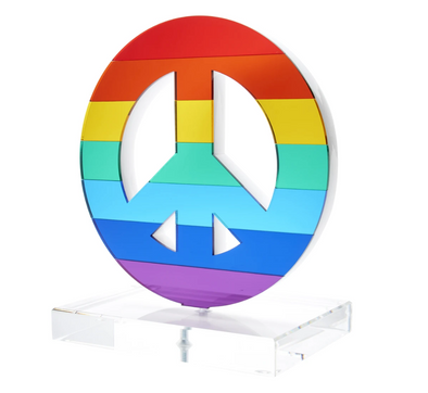 Peace Rainbow Mirror Stand-Alone