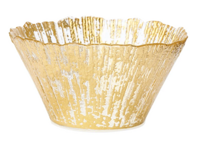 Rufolo Glass • Gold Small Deep Bowl