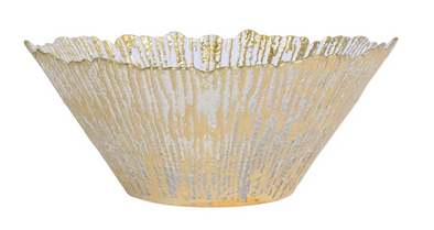 Rufolo Glass • Gold Large Deep Bowl