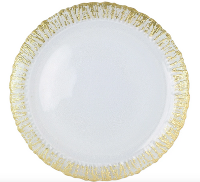 Rufolo Glass • Gold Round Platter