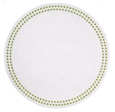 Placemat • Pearls Ant. White Willow Round