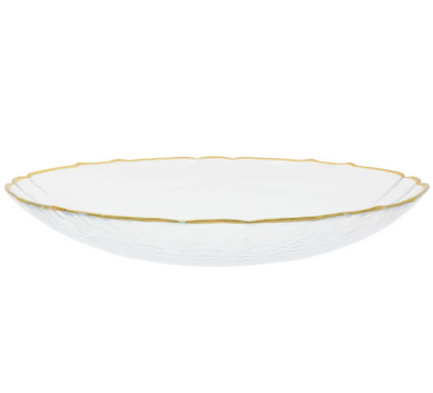 Vietri Baroque Glass • White Large Bowl